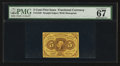 Fractional Currency:First Issue, Fr. 1230 5¢ First Issue PMG Superb Gem Unc 67 EPQ.. ...