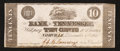 Obsoletes By State:Tennessee, Nashville, TN - Bank of Tennessee 10 Cents Dec. 1, 1861. ...