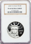Modern Bullion Coins: , 2000-W P$100 One-Ounce Platinum Eagle PR69 Ultra Cameo NGC. NGCCensus: (566/425). PCGS Population (1160/147). Numismedia ...