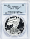 Modern Bullion Coins: , 2001-W $1 Silver Eagle PR70 Deep Cameo PCGS. PCGS Population (745).NGC Census: (3469). Numismedia Wsl. Price for problem ...