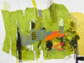Fine Art - Painting, European:Contemporary   (1950 to present)  , DENISE ISRAEL (British). BENEFITTING ROME ART PROGRAM. ForumSpring, 2012 . Mixed media on paper. 12 x 16 inches (30...