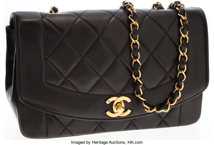 5678aa163951 Luxury Accessories:Bags, Chanel Black Lambskin Leather Small Single Flap Bag  with GoldHardware.