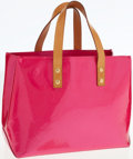 Luxury Accessories:Bags, Louis Vuitton Fuchsia Monogram Vernis Leather Lead PM Tote Bag. ...