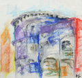 Fine Art - Painting, European:Contemporary   (1950 to present)  , JANINE REEVES (British). ROME ART PROGRAM ALUMNI 2012. Untitled , 2012. Watercolor on paper . 12 x 12 inches (30.5 x...