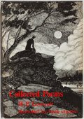 Books:Science Fiction & Fantasy, H. P. Lovecraft. Collected Poems. Arkham House, 1963. First edition. Illustrated by Frank Utpatel. Publisher's c...