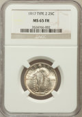 Standing Liberty Quarters: , 1917 25C Type Two MS65 Full Head NGC. NGC Census: (129/58). PCGSPopulation (187/71). Mintage: 13,880,000. Numismedia Wsl. ...