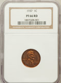 Proof Lincoln Cents: , 1937 1C PR66 Red NGC. NGC Census: (85/12). PCGS Population(168/10). Mintage: 9,320. Numismedia Wsl. Price for problem free...