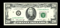 Error Notes:Double Denominations, Fr. 2071-K $20/10 1974 Federal Reserve Note. Very Choice Crisp Uncirculated.. ...
