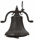 """Bronze:American, An American Bronze Bell. Fulton Foundry, Pennsylvania, USA. 1848.Cast Bronze. Marks: The bell marked """"A.Fulton/Pittsburgh..."""