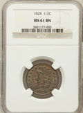 Half Cents: , 1828 1/2 C 13 Stars MS61 Brown NGC. NGC Census: (66/649). PCGSPopulation (6/226). Mintage: 606,000. Numismedia Wsl. Price ...