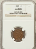 Indian Cents: , 1877 1C AG3 NGC. NGC Census: (0/3774). PCGS Population (328/3187).Mintage: 852,500. ...