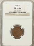 Indian Cents: , 1878 1C AU55 NGC. NGC Census: (14/176). PCGS Population (27/125).Mintage: 5,799,850. Numismedia Wsl. Price for problem fre...