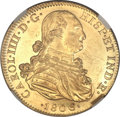 Mexico, Mexico: Carlos IIII gold 8 Escudos 1806-TH,...