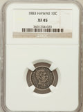 Coins of Hawaii: , 1883 10C Hawaii Ten Cents XF45 NGC. NGC Census: (35/226). PCGSPopulation (80/314). Mintage: 250,000. ...