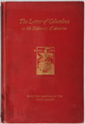 Books:Americana & American History, [Christopher Columbus]. The Letter of Columbus on the Discoveryof America. Lenox Library, 1892. Facsimile of th...