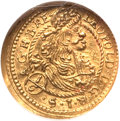 Hungary, Hungary: Leopold I (The Hogmouth) gold 1/6 Ducat 1697-NB,...