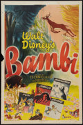 "Movie Posters:Animation, Bambi (RKO, R-1948). One Sheet (27"" X 41""). Animation.. ..."