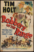 "Movie Posters:Drama, Robbers of the Range (RKO, 1941). One Sheet (26.5"" X 40""). Drama.. ..."