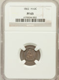 Proof Seated Half Dimes: , 1862 H10C PR65 NGC. NGC Census: (20/23). PCGS Population (25/16).Mintage: 550. Numismedia Wsl. Price for problem free NGC/...