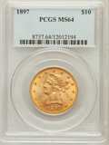 Liberty Eagles: , 1897 $10 MS64 PCGS. PCGS Population (104/8). NGC Census: (163/30).Mintage: 1,000,159. Numismedia Wsl. Price for problem fr...