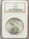 Peace Dollars: , 1926-D $1 MS65 NGC. NGC Census: (488/104). PCGS Population(653/187). Mintage: 2,348,700. Numismedia Wsl. Price for problem...