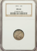 Barber Dimes: , 1892 10C MS66 NGC. NGC Census: (64/20). PCGS Population (64/9).Mintage: 12,121,245. Numismedia Wsl. Price for problem free...