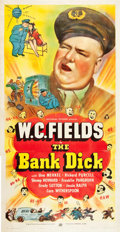 "Movie Posters:Comedy, The Bank Dick (Universal, 1940). Three Sheet (41"" X 81"").. ..."