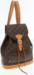 Luxury Accessories:Bags, Louis Vuitton Classic Monogram Canvas Montsouris MM Backpack Bag....