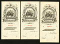 Miscellaneous:Other, Manhattan Life Insurance circa 1900 Specimen Seven Examples.. ...(Total: 7 items)