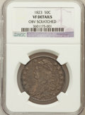 Bust Half Dollars, 1823 50C -- Obv scratched -- NGC Details. VF. NGC Census: (15/699).PCGS Population (20/812). Mintage: 1,694,200. Numis...