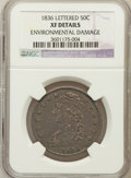 Bust Half Dollars, 1836 50C Lettered Edge -- Environmental Damage -- NGC Details. XF.NGC Census: (81/1031). PCGS Population (153/1019). M...