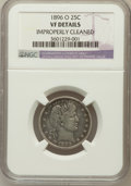 Barber Quarters, 1896-O 25C -- Improperly Cleaned -- NGC Details. VF. NGC Census:(3/91). PCGS Population (5/112). Mintage: 1,484,000. Numis...