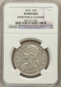 Bust Half Dollars, 1833 50C -- Improperly Cleaned -- NGC Details. XF. NGC Census:(73/1155). PCGS Population (143/1188). Mintage: 5,206,00...