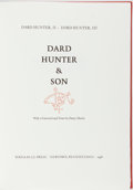 Books:Books about Books, Dard Hunter, II and Dard Hunter, III. LIMITED. Dard Hunter &Son. Bird & Bull Press, 1998. Limited to 225 hand...