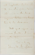"Autographs:Authors, Henry Wadsworth Longfellow. Autograph Letter Signed ""Henry W. Longfellow"". Four pages, September 8, 1872 with the origin..."