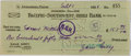 """Autographs:Authors, Zane Grey. Bank Check Signed """"Zane Grey"""". OnPacific-Southwest Trust & Savings Bank check stock, September1, 1928. With..."""