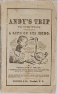 Books:Americana & American History, Petroleum V. Nasby [pseudonym for David R. Locke]. Andy's Tripto the West, Together with A Life of Its Hero. Hu...