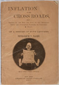 Books:Americana & American History, Petroleum V. Nasby [pseudonym for David R. Locke]. Inflation atthe Crossroads. American News Company, 1875. Pub...