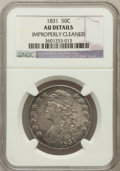 Bust Half Dollars, 1831 50C -- Improperly Cleaned -- NGC Details. AU. NGC Census:(85/1111). PCGS Population (162/1046). Mintage: 5,873,660. N...
