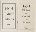 Books:Americana & American History, [Woodrow Wilson and Warren G. Harding]. Two Campaign Brochures.Printed wrappers. Fine. One from the 1920 election between W...