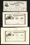 Miscellaneous:Other, Fort Wayne, IN- Hamilton National Bank Check 1879-1880 Proof SevenExamples.. ... (Total: 7 items)