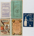 "Books:Americana & American History, Group of Four 19th Century Pamphlets. Includes ""The Child'sCasket"", ""The Romance of a Hammock"" [front cover detached], ""The..."