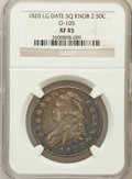 Bust Half Dollars: , 1820 50C Square Base Knob 2, Large Date XF45 NGC. O-105. PCGSPopulation (26/66). ...