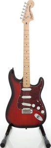 Musical Instruments:Electric Guitars, 2004 Fender Squire Standard Stratocaster Cherry Sunburst Solid BodyElectric Guitar, Serial # IC04104813....