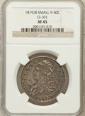 Bust Half Dollars: , 1819/8 50C Small 9 XF45 NGC. O-101. NGC Census: (43/192). PCGSPopulation (21/117). Numismedia Wsl. Price for problem fre...