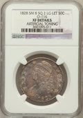 Bust Half Dollars, 1828 50C Square Base 2, Small 8, Large Letters -- Artificial Toning-- NGC Details. XF. O-116. NGC Census: (17/186). PCGS P...