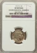 Buffalo Nickels: , 1919-S 5C -- Environmental Damage -- NGC Details. XF. NGC Census:(29/520). PCGS Population (42/705). Mintage: 7,521,000. N...