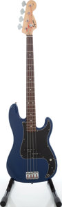 Musical Instruments:Electric Guitars, 2000 Fender Squire Affinity Series Precision Bass Blue ElectricBass Guitar, Serial # CY00116610....