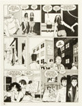 "Original Comic Art:Panel Pages, Jaime Hernandez Love and Rockets #30 ""Ninety-Three Million Miles from the Sun"" Page 16 Original Art (Fantagraphics..."