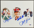 Baseball Collectibles:Photos, Boston Red Sox Legends Multi Signed Photograph....